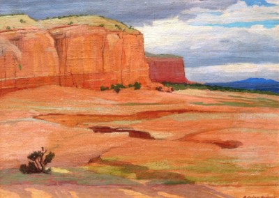 Southwest Mesa (circa 1928)<br>oil on illustration board, 12x16 inches, SOLD