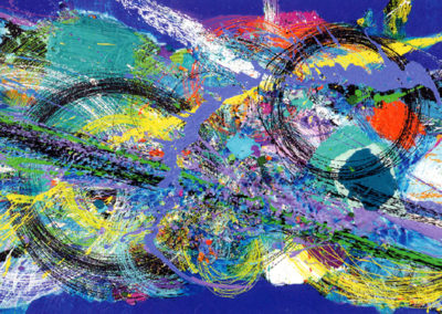 Spirit Two (2005 - 2010)<br>acrylic on canvas, 40 x 96 inches
