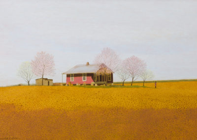 Spring (1967)<br>acrylic on panel, 23 x 34 inches