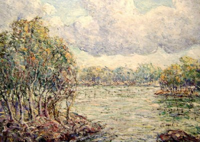 Springtime on the River (1926)<br>oil on canvas, 16x20 inches