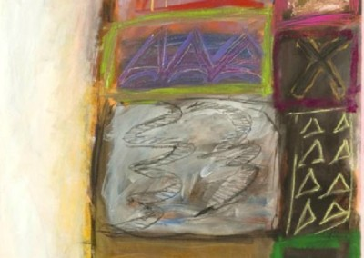 Stacked (1985)<br>mixed media, 50x39 inches, SOLD
