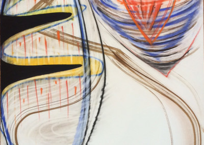 Stax 2 (2015)<br>mixed media on paper, 41 x 29 inches