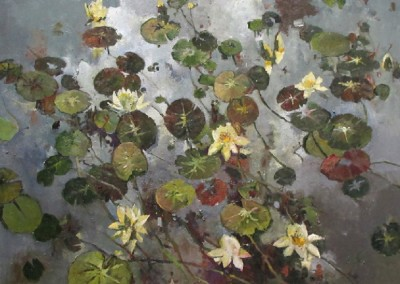Stillness Autumn (2014)<br>oil on canvas, 35x45 inches