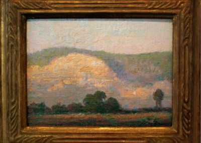 Study for Big Rock (Little Rock, Arkansas) (circa 1925)<br>oil on panel, 9x12 inches, 13.5x16.5 inches framed, SOLD