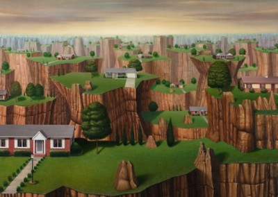 Suburban Wasteland II (2000)<br>oil on linen, 34x40 inches