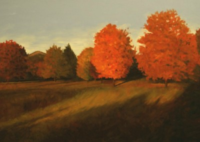 Sugar Maples<br>oil on canvas, 24x36 inches, 35x47 inches framed