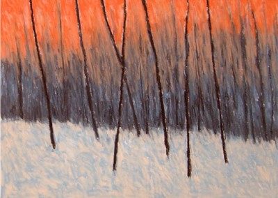 Sunset in Winter (2010)<br>pastel on paper, 22x30 inches