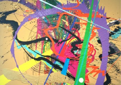 Super Collider Series No. 13 (2015)<br>acrylic on canvas, 64x48 inches