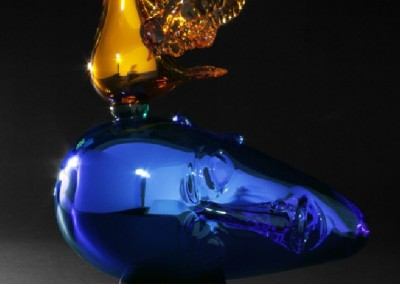 Suspended in Dreams #3 (2012)<br>hand sculpted glass, 21x16x19 inches
