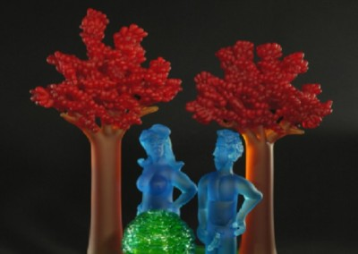 Tableau 8 (2009)<br>glass, 22.5x23x12.5 inches