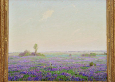 Texas Blue Bonnets (1927)<br>oil on canvas wrapped around board, 25 x 30 inches