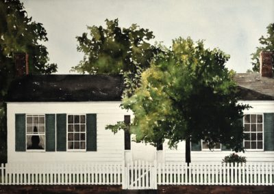 The McVicar House, 1848 (1977)<br>watercolor on paper, 19.5 x 27.5 inches