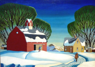 The Postman (c.1948)<br>oil on canvas, 24 x 30 inches