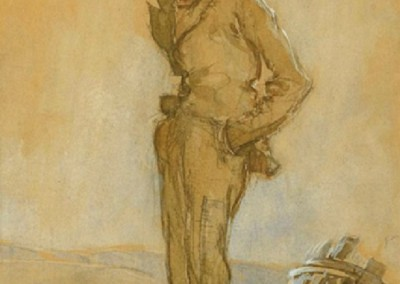 The Vagrant (1923)<br>watercolor and pencil on paper, 10x7.5 inches