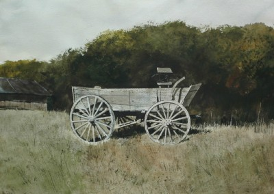 The Wagon (2013)<br>watercolor on paper, 22x29 inches