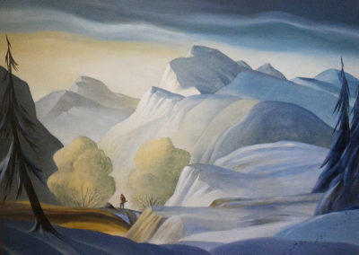 The Wilderness (1986)<br>oil on canvas, 30 x 40 inches