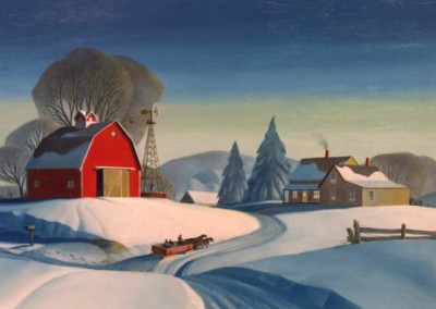 To Grandfather's Home We Go (1983)<br>oil on canvas, 30x40 inches