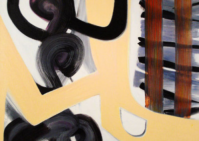 Tracks (2008)<br>oil on canvas, 53 x 41 inches