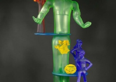 Translating Substance #25 (2009)<br>glass, 53.5x28x16 inches