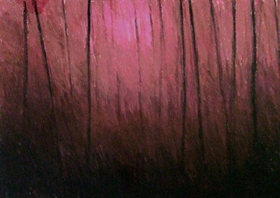 Trees in the Afterglow (2000)<br>pastel on paper, 22x30 inches