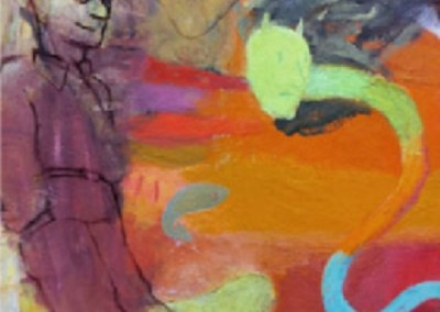 Uncertain Serpent (1979-2005)<br>oil on canvas, 36x24 inches