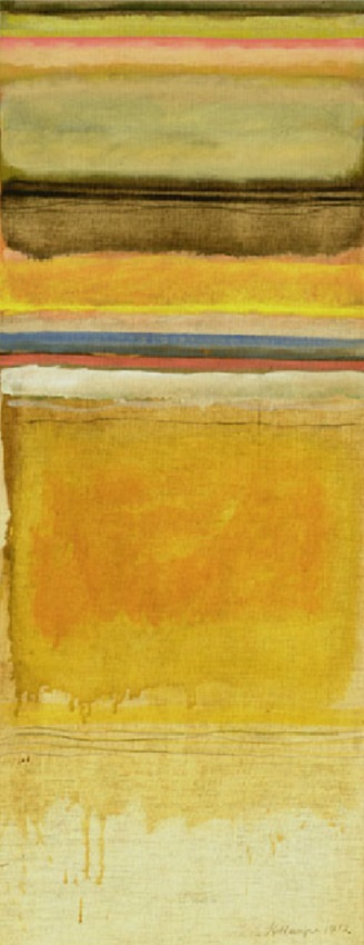Vertical Striae (1972)<br>oil on canvas, 40x16 inches, SOLD