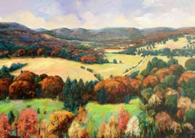 View of White Rock Valley (2016)<br>acrylic on canvas, 40 x 60 inches