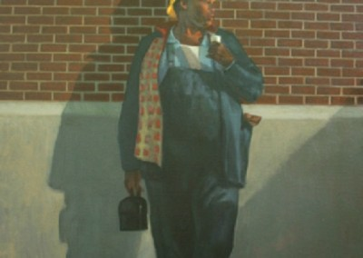 Waiting for the Bus (2011)<br>oil on canvas, 20x24 inches