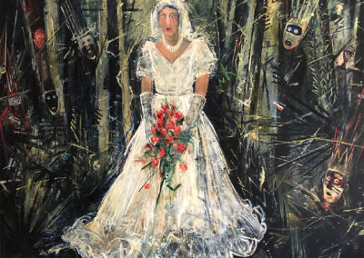 Waiting in the Wrong Woods (1986)<br>oil on canvas, 90 x 100 inches
