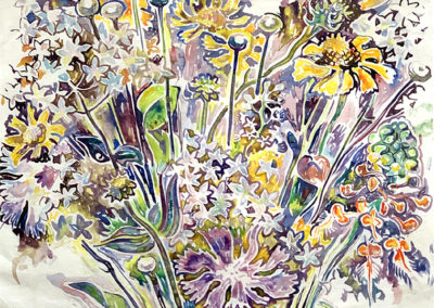 Wildflowers (c.1955)<br>watercolor on paper, 8.5 x 11 inches