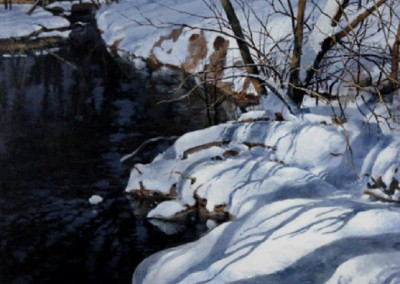 Winter Colors (2011)<br>acrylic on panel, 36x36 inches