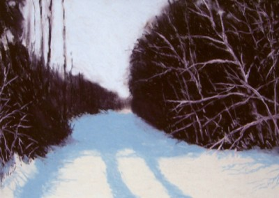 Winter Road (2010)<br>pastel on paper, 22x30 inches