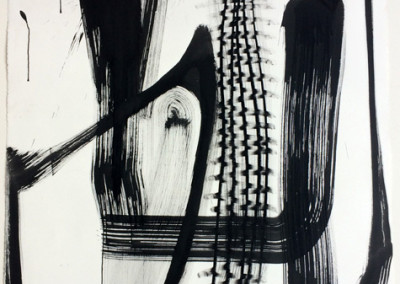 Zinger (3013)<br>mixed media on paper, 41 x 29 inches