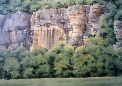 Roark Bluff (2014)<br>acrylic on panel, 24x30 inches