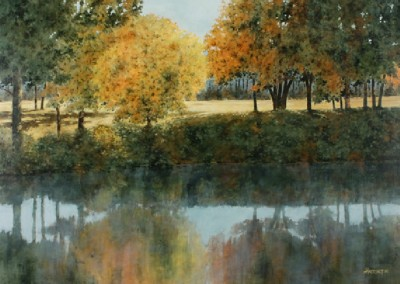 War Eagle Creek (2015)<br>acrylic on panel, 36x48 inches