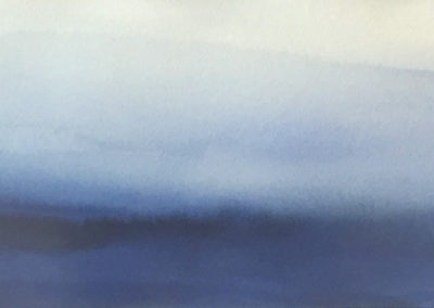 Of Mist #1 (2016)<br>watercolor on paper, 11 x 30 inches