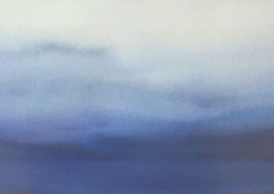 Of Mist #2 (2016)<br>watercolor on paper, 11 x 30 inches