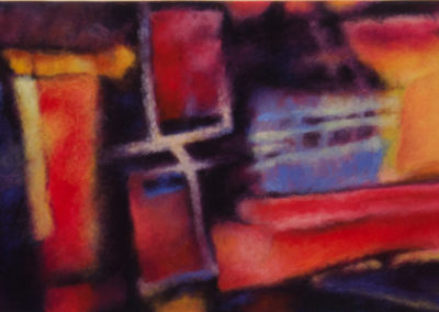 Serendipity Series #5 (2016)<br>pastel on paper, 10.5 x 33.75 inches