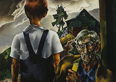 Willy The Farmer (1940)<br>oil on canvas, 40 x 36 inches