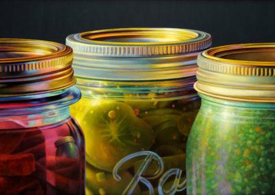 Tops Trio (2008)<br>oil on canvas, 23 x 35 inches