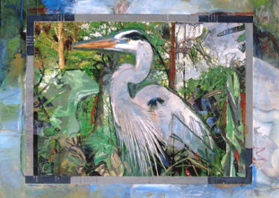 Bayou Memories<br>gouache collage, 11.68 x 14.68 inches