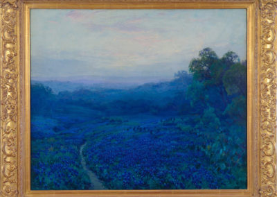 Sunrise - Southwest Texas - Bluebonnets (Lupin) (1917)<br>oil on canvas, 25 x 30 inches
