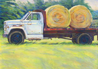 Pete's Truck (2015)<br>acrylic on canvas, 48 x 48 inches