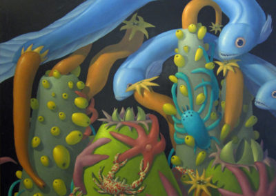 Ancient Sea IV (2016)<br>oil on panel, 36 x 48 inches
