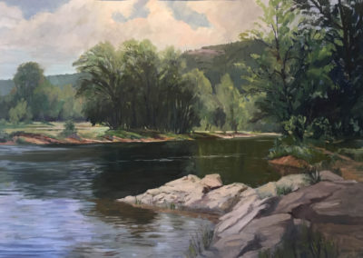 Buffalo River (1997)<br>oil on paper, 27.5 x 38.5 inches