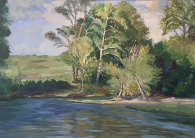 Caddo River (1997)<br>oil on paper, 25.5 x 35.5 inches