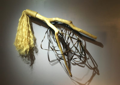Flirt (1997)<br>wood, steel, and sisal, 56 x 60 x 19 inches