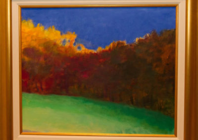 Fall Silhouette (2002)<br>oil on canvas, 20 x 24 inches