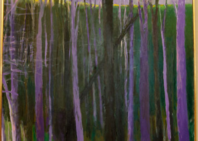 Greenwood and Black (2005)<br>oil on canvas, 58 x 53 inches