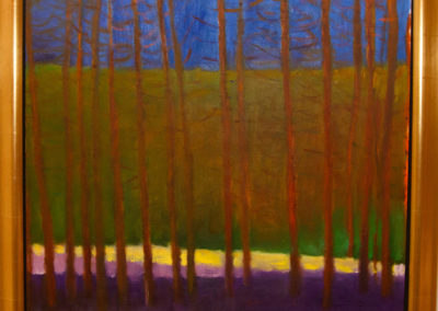 The Yellow Stripe (1999)<br>oil on canvas, 27 x 26 inches